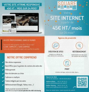 flyer square du web